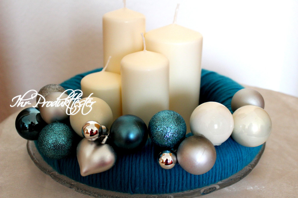 DIY Adventskranz #ice #blue #christmas #diy