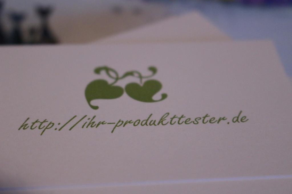 Meine ersten Blogger Visitenkarten
