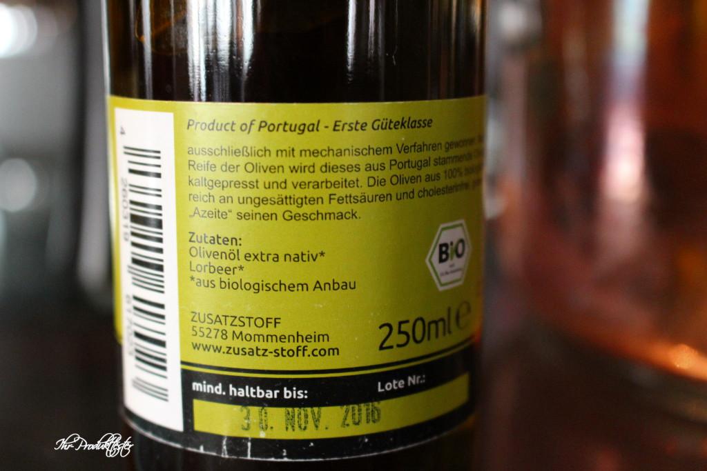 Zusatzstoff: BIO Olivenöl aus Portugal im Test