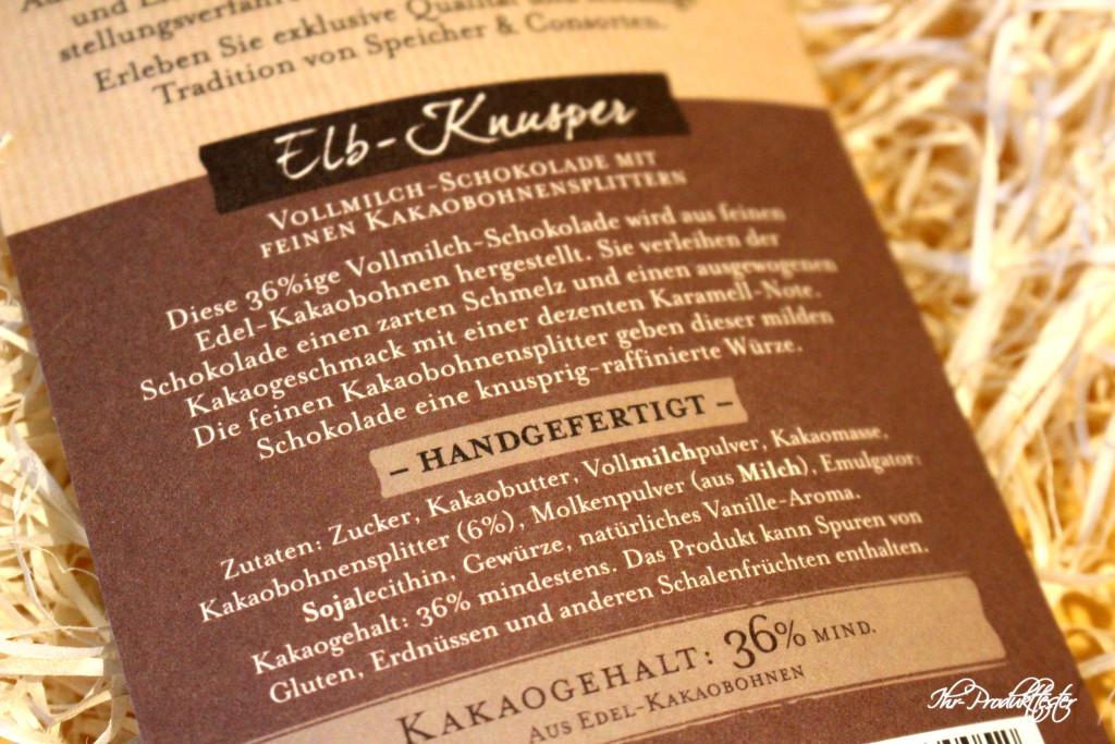 Speicher & Consorten: Schokolade, Test